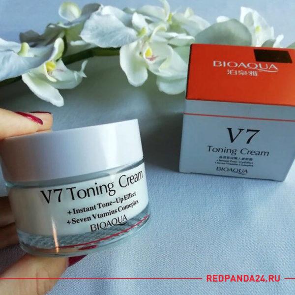 Крем для лица с витаминным комплексом BioAqua V7 Toning Cream