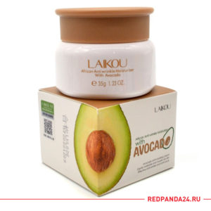 крем против морщин с экстрактом авокадо и маслом Ши Laikou African Anti wrinkle Moisturizer with Avocado