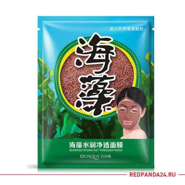 Водорослевая маска BIOAQUA Seaweed Hydra Net Though Mask