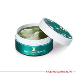 гидрогелевые патчи для глаз увлажняющие с зелёным чаем Jayjun Green Tea Eye Gel Patch