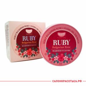 Гидрогелевые патчи для глаз с экстрактом болгарской розы и минеральной рубиновой пудрой Koelf Ruby Bulgarian Rose