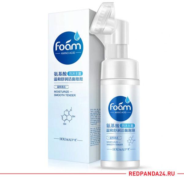 Мягкая очищающая пенка-мусс для умывания c аминокислотами HOUMAI Amino Acid Moisturizing Face Wash