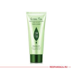 Очищающая пенка для лица с экстрактом зеленого чая Images Natural Green Tea Clear The Skin