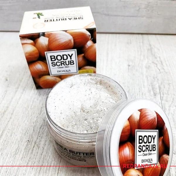 Скраб для тела с маслом Ши и грецким орехом Bioaqua