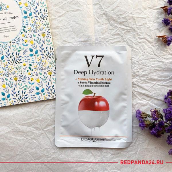 Тканевая маска с яблоком V7 Bioaqua