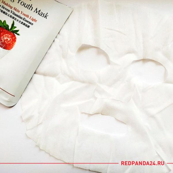 Тканевая маска с клубникой V7 Bioaqua