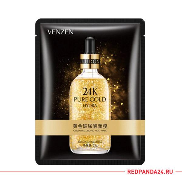 Тканевая маска с золотом и гиалуроновой кислотой Venzen