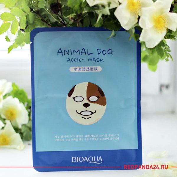 Увлажняющая маска-салфетка с гиалуроновой кислотой ANIMAL DOG Bioaqua