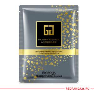 Тканевая маска золотая с гиалуроновой кислотой Bioaqua