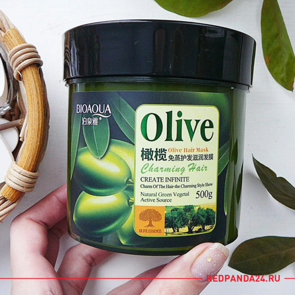 Маска для волос с оливой Bioaqua