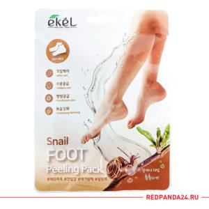 Маска пилинг для ног с улиточным муцином Ekel