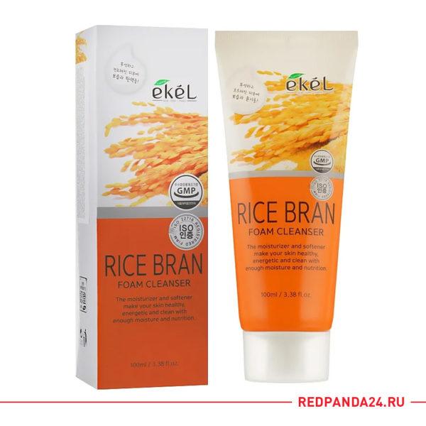 Пенка для умывания с коричневым рисом Ekel