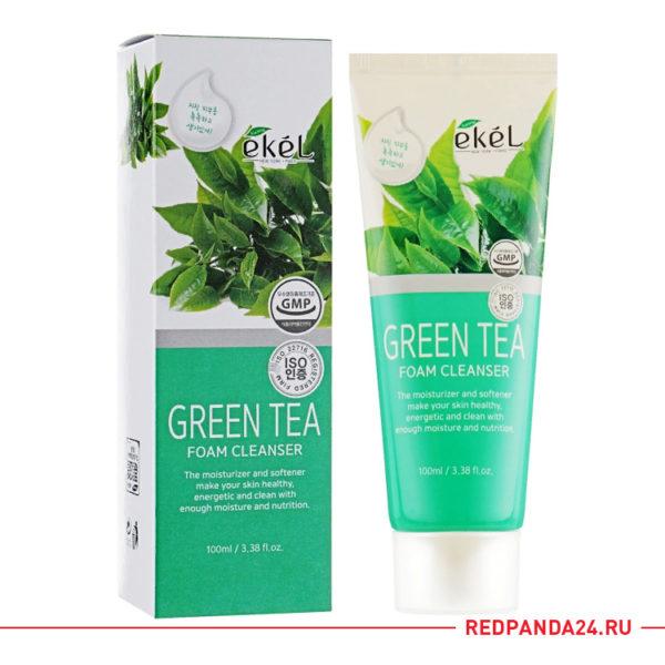 Пенка для умывания с зеленым чаем Ekel