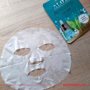 Тканевая маска с алоэ Ekel
