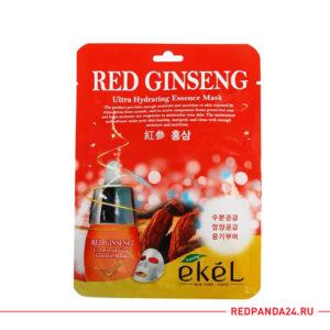 Тканевая маска с красным женьшенем Ekel