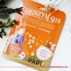 Тканевая маска с коэнзимом Q10 Ekel