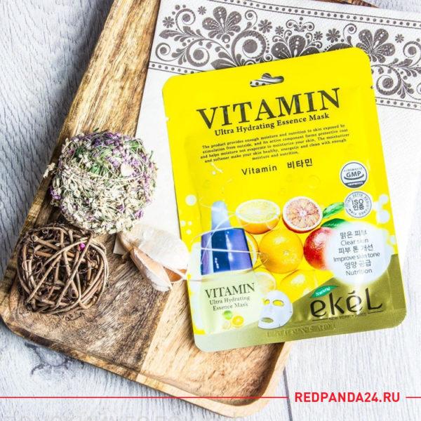 Тканевая маска с витамином С Ekel