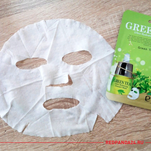 Тканевая маска с зеленым чаем Ekel