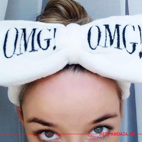 Повязка для волос OMG белая