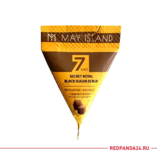 Скраб в пирамидке с коричневым сахаром May Island