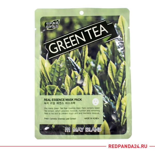 Тканевая маска с зеленым чаем May Island