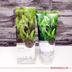 Пенка для умывания с зеленым чаем 3W Clinic