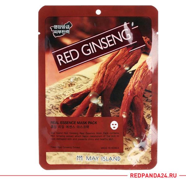 Тканевая маска с красным женьшенем May Island
