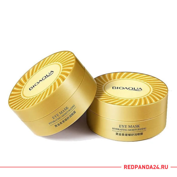 Гидрогелевые патчи для глаз с 24К золотом Bioaqua