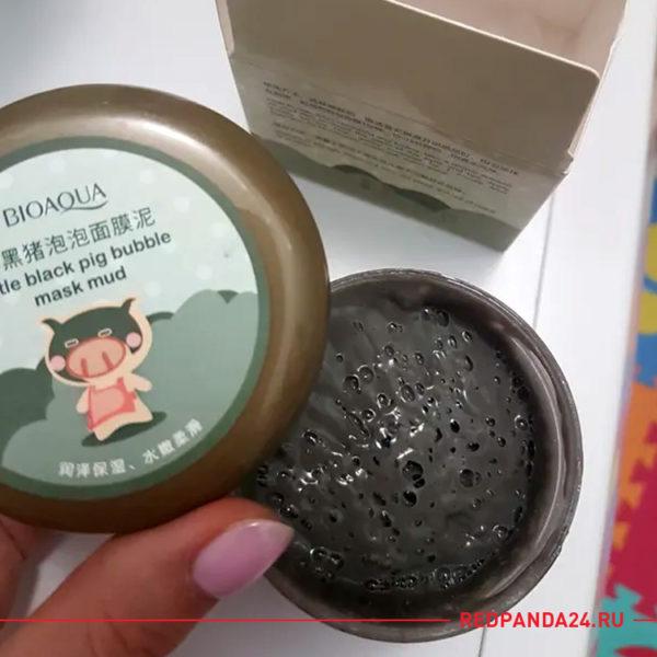Маска для лица пузырьковая с глиной Bioaqua