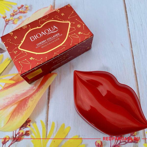 Патчи для губ с коллагеном и вишней Bioaqua (набор)